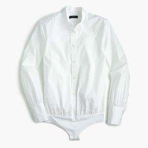 J. Crew White Blouse Bodysuit New NWT Sz. 8